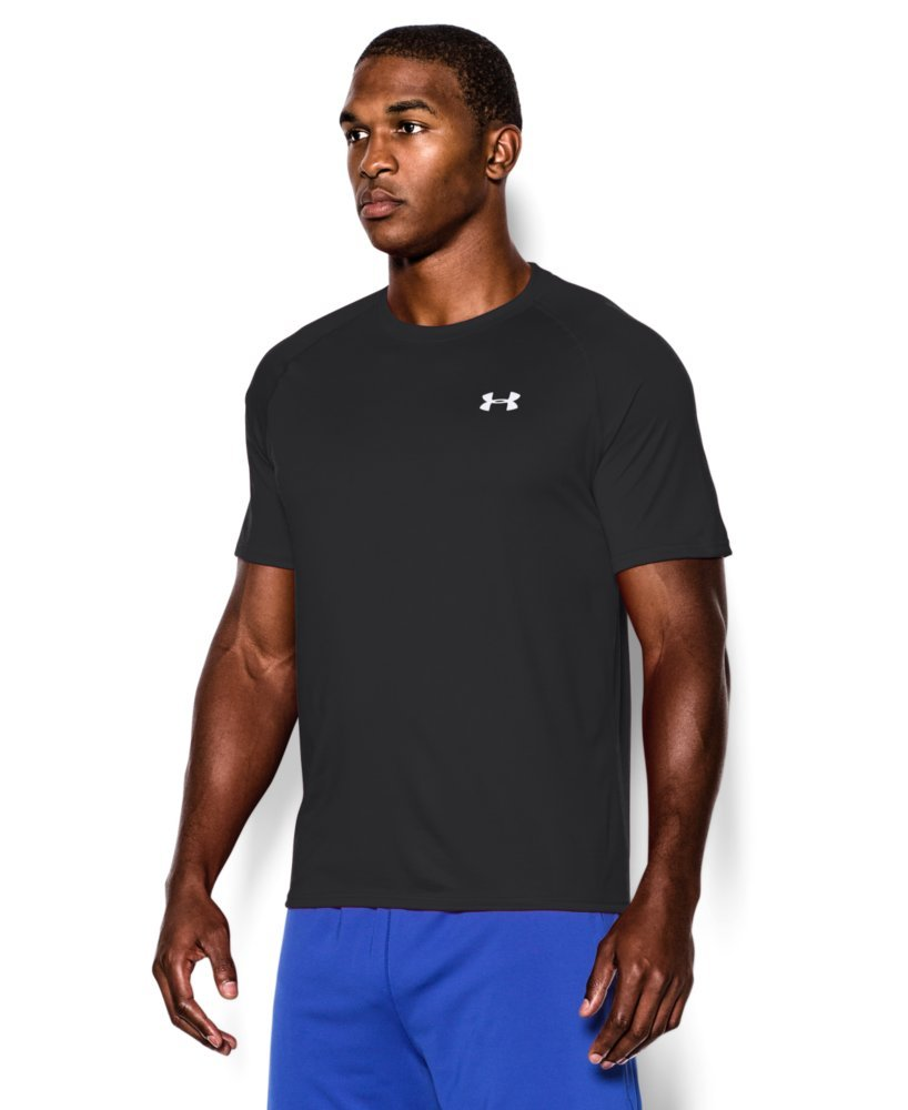 Under Armour Men's Tech Short Sleeve T-Shirt, Black /White, XXX-Large Tall by Under Armour (Image #3)