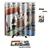 robotic human arm - vanfan bath sets with Polyester rugs and shower curtain robotic arm for packing 139813588 shower curtains sets bathroom 72 x 108 inches&31.5 x 19.7 inches(Free 1 towel and 12 hooks)