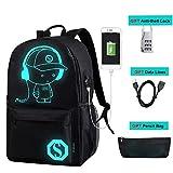 USB Charging Laptop Teenager School Backpack Luminous Anti theft Boys SchoolBag