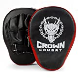 Curved PU Leather Punch Mitts, Pair of 2 by Crown Sporting Goods