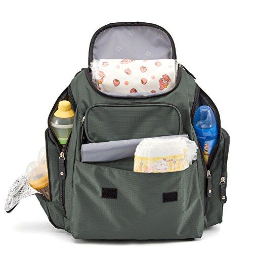 Evecase Mochila de Bebé, Mochila de Pañales, Bolso Multifuncional con Gran Capacidad para Mamá