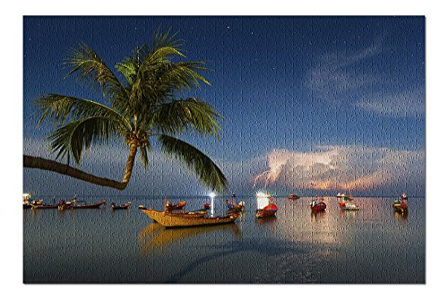 Thailand - Coastal Scene during Storm (20x30 Premium 1000 Piece Jigsaw Puzzle, Made in USA!)