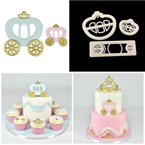 Joinor Princess Carriage Plastic Fondant Cutter Cake Mold Fondant Mold Fondant Cake Decorating Tools