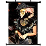 Home Decor Art Movie Poster,Lady Gaga Car Dress Image City Wall Scroll Poster Fabric Painting 23.6 X 35.4 Inch (60cm X 90 cm)
