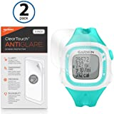 Garmin Forerunner 15 Teal/White Screen Protector, BoxWave® [ClearTouch Anti-Glare (2-Pack)] Anti-Fingerprint Matte Film Skin for Garmin Forerunner 15 Teal/White