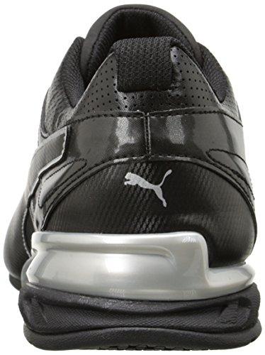 Puma Men's Tazon 6 FM Cross-Trainer Shoe, White/Black/Red, 11 M US Black/Silver