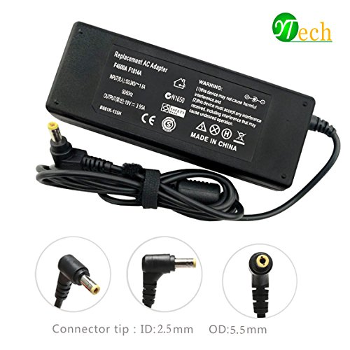 YTech 75W 19V 3.95A AC Adapter Laptop Charger for Toshiba Satellite C50 C55 C55D C655D C75D C855D C875 L505-S6959 L645 L655 L675 L750 P755 L855 L875D Laptop DC Adapter Power Supply Cord