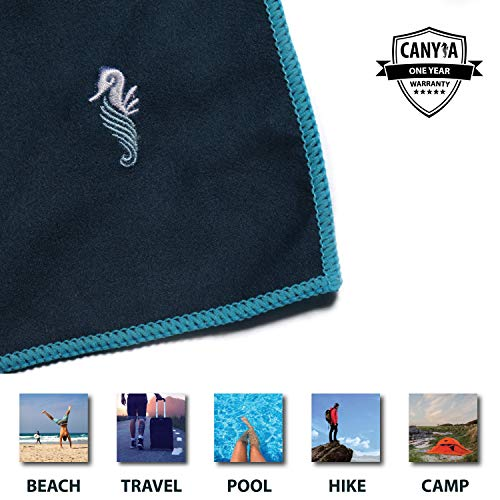 Pool Absorbent Swim Towel for Travel CANYLA Oversized Quick Dry Microfiber Beach Travel Towel: XL 78x35 Lightweight Hike Beach Fast Drying Compact Camp; Extra Large Sand Free