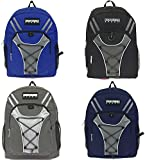 Wholesale 19'' Bungee Design Backpack 4 Assorted Colors - Case of 24