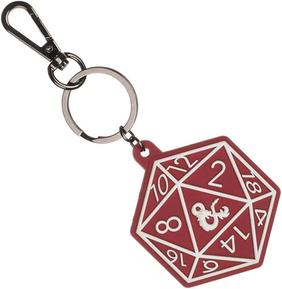 Dice Keychain with Removable d20 for Dungeons and Dragons Roleplaying Games