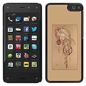 Stuss Case / Funda Carcasa protectora - Colector ideal del cartel de la muchacha del sueño; - Amazon Fire Phone