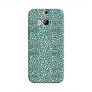 Cover It Up - Brown Blue Pebbles Mosaic One M8 Hard Case