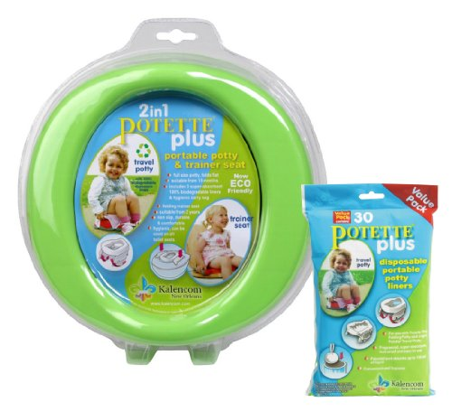 kalencom-2-in-1-potette-plus-portable-potty-toilet-training-seat-green-with-30-potty-liners-set