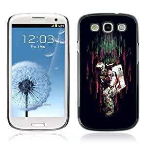 Designer Depo Hard Protection Case for Samsung Galaxy S3 / Colorful Astronaut In rain