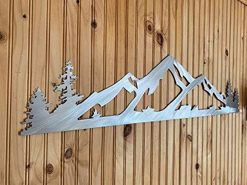 Utah Mountains Alta Skiing Resort Area Metal Wall Artwork Outdoor Winter Scenic Art