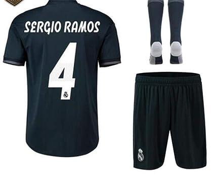 first rate f901c 11f67 Amazon.com: LISIMKE Soccer Team 2018/19 Real Madrid Away ...