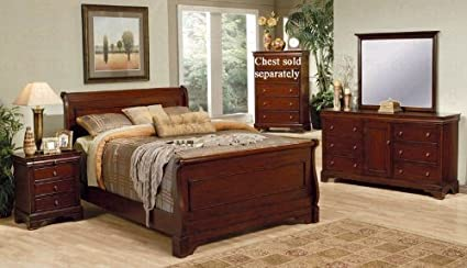 Peachy Amazon Com Versailles California King Sleigh Bedroom Set By Download Free Architecture Designs Photstoregrimeyleaguecom