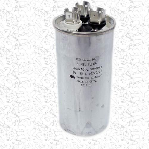 "SUPCO CD30+5X440R Dual Motor Run Capacitor, Round, 30 + 5 Mfd x 440V, 2.00"" Diameter, 3.75"" Height"