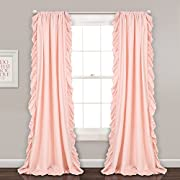 Lush Decor Lush Décor Reyna Window Curtain, Panel Pair 84  x 54 , Blush Pink