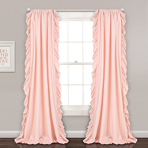 Lush Decor Reyna Window Curtains Panel Set for Living Room