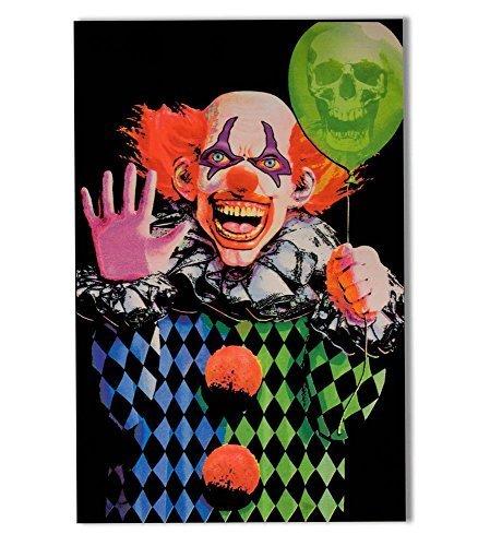 Opticz Evil Clown Blacklight Poster by Opticz