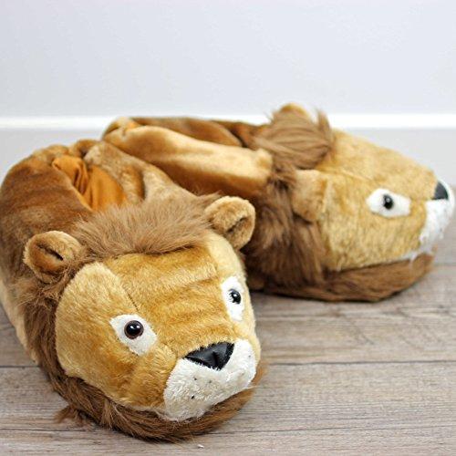 Sleeper'z - Lion - Chaussons animaux peluche - Adulte et enfant - Homme et Femme