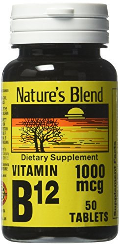 Nature's Blend Vitamin B12 1000 mcg Tablets - 50 ct