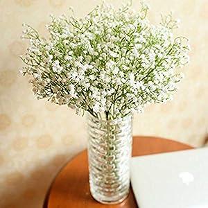 MARJON Flowers20PCS Artificial Gypsophila Flowers ,White Artificial Flowers Fake Beautiful Flower for Wedding/Party/Home/Garden/Offices/Restaurants Decoration 47