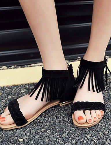 LFNLYX Zapatos de mujer-Tacón Robusto-Tacones / Comfort / Innovador / Botas a la Moda / Zapatos y Bolsos a Juego / Zapatillas-Plantillas y Black