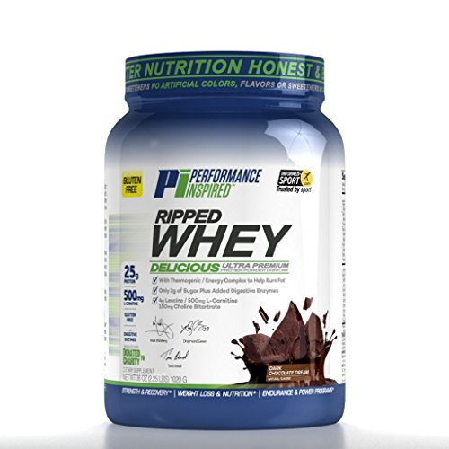 Performance Inspired Nutrition Ripped Whey Protein, Dark Chocolate Dream, 2.25 Pound