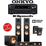 Klipsch RP-280FA 3.1.4-Ch Reference Premiere Dolby Atmos Home Theater Speaker System with Onkyo TX-NR787 9.2-Channel 4K Network A/V Receiver