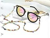 EUBUY Colorful Beads Eyeglass Chains,Eyeglass