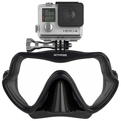 17e6e459da3e OCTOMASK - Compatible with Gopro - Frameless Dive Mask - Scuba and Snorkel  - Black