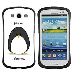 Hybrid Anti-Shock Bumper Case for Samsung Galaxy S3 / Penguin
