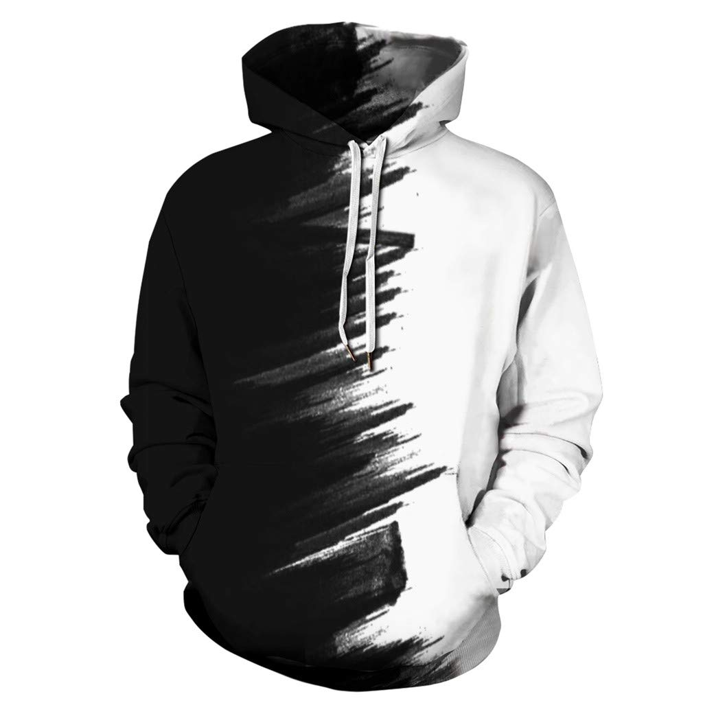 BEKUTY Sweat-Shirts /à Capuche Manches Longues Homme Impression en 3D Veste de Sport Grande Taille