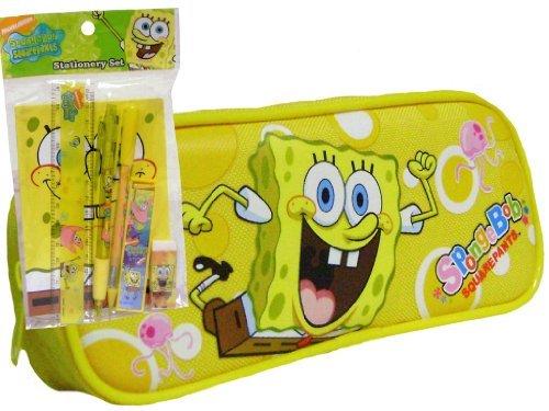 NEW Sponge Bob giallo Pencil Case & Stationery Kit di Spongebob Squarepants