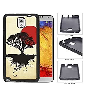 Asian Sunrise Nature And Earth Silhouette Rubber Silicone TPU Cell Phone Case Samsung Galaxy Note 3 III N9000 N9002 N9005