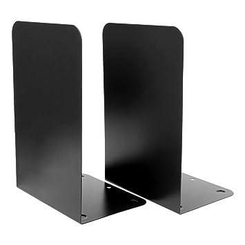ecmqs sujetalibros - 1 par Sujetalibros de Metal organizador escritorio escritorio Carlos estantería para libros de almacenamiento elefante libro se Termine ...