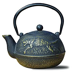 "Old Dutch 1034MB Cast Iron ""Tora"" Teapot, 22 oz, Matte Black"
