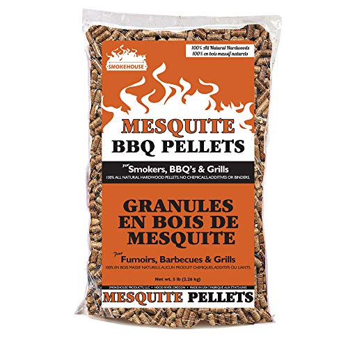 (Smokehouse Products 9775-020-0000 5-Pound Bag All Natural Mesquite Flavored Wood Pellets, Bulk )