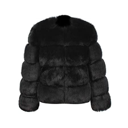 Amazon.com : Annhoo Women Ladies Casual Long Jacket Fluffy ...