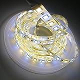 LEDENET Super Bright Warm white/Daylight Dual Color Flexible 5050 LED Strip Light 2800K-7000K adjustable 12V 300LEDs Waterproof 16.4ft (5m)