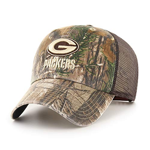 - OTS NFL Green Bay Packers Male Ledgewood Challenger Adjustable Hat, Realtree, One Size