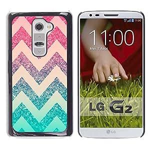 All Phone Most Case / Hard PC Metal piece Shell Slim Cover Protective Case Carcasa Funda Caso de protección para LG G2 D800 D802 D802TA D803 VS980 LS980 chevron pink mint green pattern stars