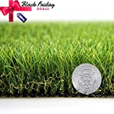 Artificial Grass Turf Lawn Fake Grass Mat Thick Synthetic Turf Rug Indoor Outdoor Carpet Garden Lawn Landscape Rubber Backed with Drainage Holes,1.77inch Pile Height (3.3ft x 9.8ft = 32.3 sqaure ft)