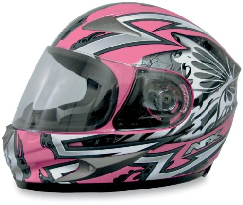 AFX FX-90 Passion Helmet , Size: XL, Primary Color: Pink, Helmet Type: Full-face Helmets, Helmet Category: Street, Distinct Name: Silver/Pink Passion, Gender: Womens 0101-5846