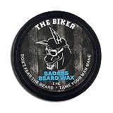 Badass Beard Care Beard Wax For Men - The Biker Scent, 2 oz - Softens Beard Hair, Leaves Your Beard Looking and Feeling More Dense