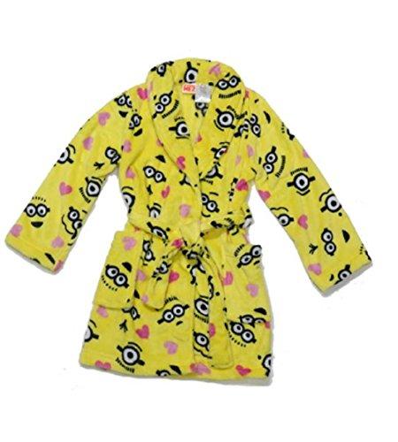 Girls Despicable Me Plush Robe Size xs