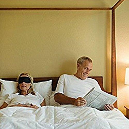 Joyfeel Buy 1x Mascherina Notte Mascherina per Dormire Fascetta Elastica Regolabile Contro Insonnia per Donnae Uomo