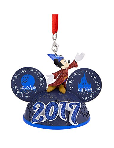 amazoncom walt disney world parks icon sorcerer mickey mouse 2017 ears hat light up ornament home kitchen